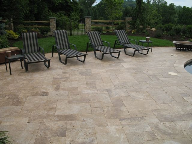 Noce Travertine Paver #travertine #paver #walnut #contractor  #homeimprovement #pool #