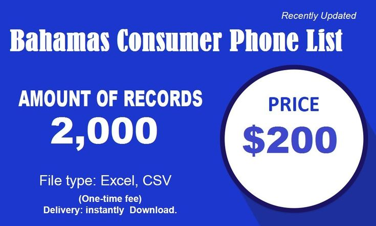 Bahamas Phone Number List Singapore business, Email