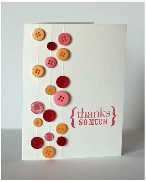 Thank you button card