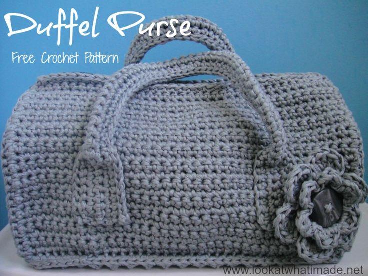 Crochet Duffel Purse Tutorial ✿⊱╮Teresa Restegui http://www.pinterest.com/teretegui/✿⊱╮