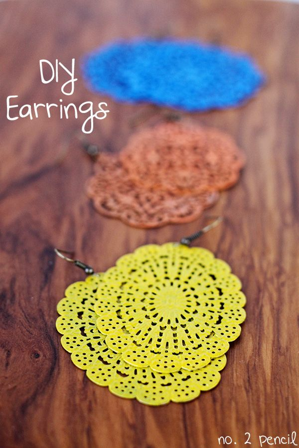 DIY Painted Earrings - such a fun and easy project!