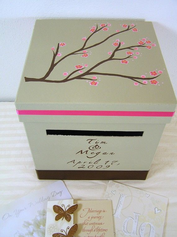 cute card box for the reception. Doesn't look too hard to do on my own... DIY!