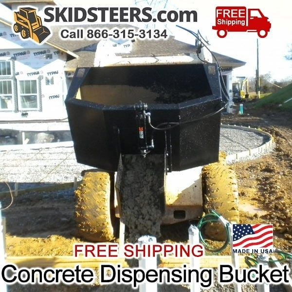 SkidSteers.com 1/2 Yard Dispensing Bucket - See pricing and details at https://www.skidsteers.com/dispensing-bucket.html or call 866-315-3134.  #bobcat #caterpillar #heavyequipment #dirtwork #earthmoving #equipment #heavyequipmentlife #dirtmover #heavymachinery #johndeere #kubota #dirtmoving #earthmover #skidsteer #skidloader #dirtlife #skidsteers_daily #construction #landscaping #excavator #farming #farmer #dairyfarming #treeremoval #masonry #landscapedesign #landscapearchitecture #mason…