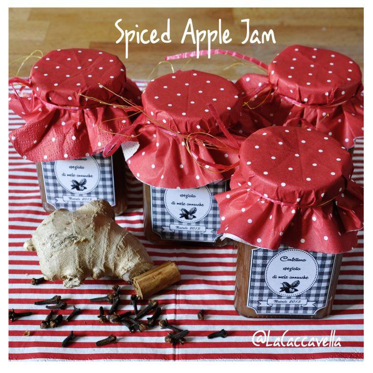 marmellata, confettura, jam, mele, mela, apple, speziata, spiced, cannella, cinnamon, zenzero, ginger, cloves, christmas, natale, gift idea