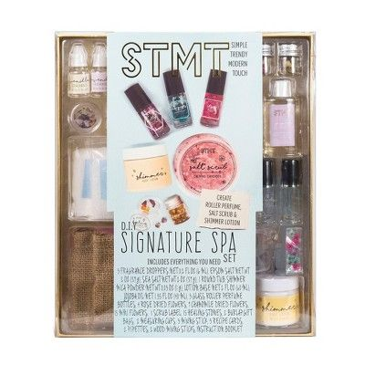 STMT DIY Signature Spa Perfume & Salt Scrub Set : Target