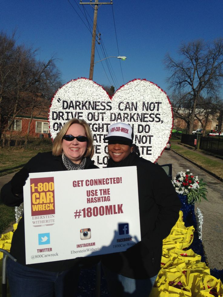 Carson & Tascha at the #mlkparade #ebersteinwitherite #1800carwreck