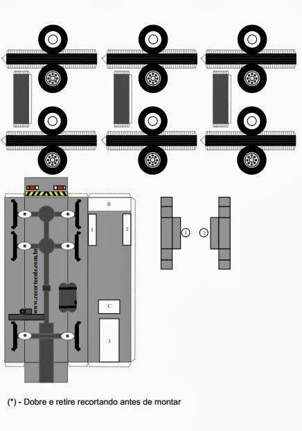 Molde de caminhão betoneira (Baixar e imprimir)