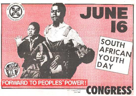 A poster depicting Sam Nzima's iconic image of the Soweto Uprising, SAHA Poster Collection, AL2446_0127