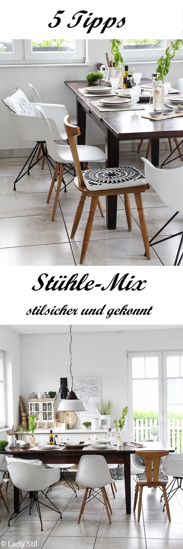 Die 5 besten Tipps für den Stühle-Mix! Unterschiedliche Stühle kombinieren leicht gemacht!