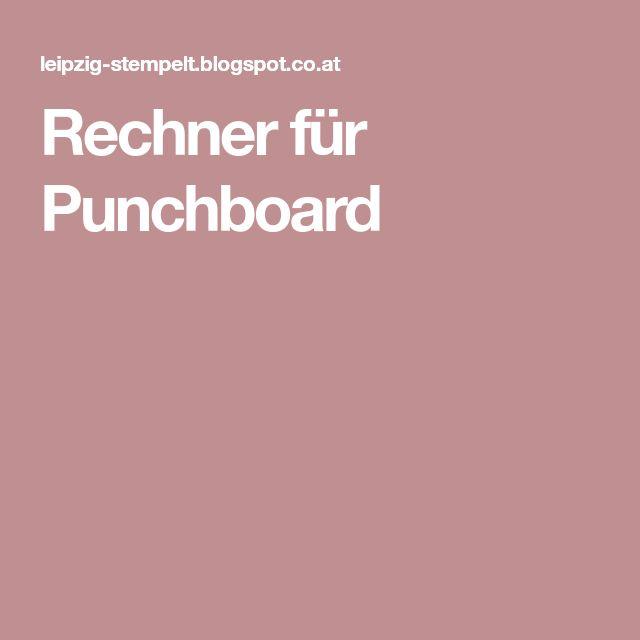 Rechner für Punchboard