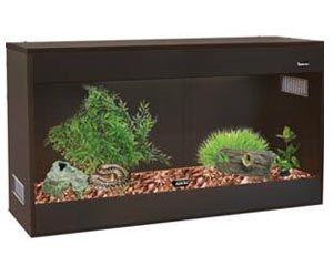 Saburra 120 Wooden Vivarium 120 L X 45 W X 60cm H (black)  PRICE-$279.00