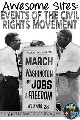 Check out this blog post for a great list of sites to use when teaching about the events of Civil Rights Movement.