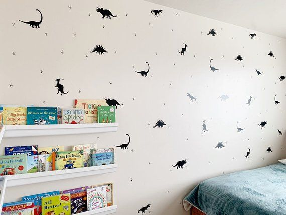 Dinosaur Wall Decals Peel And Stick Wall Decals Vinyl Decals Dinosaur Theme Kids Room Nurseries Removable Wont Damage Simple Easy Dinosaur Wall Decals Dinosaur Wall Wall Decals