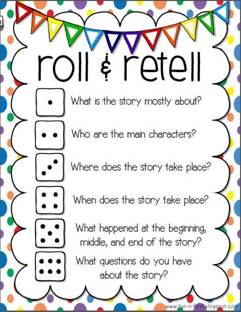12 best reading images on pinterest school english grammar and roll retell fun way to discuss a story link goes to pdf printable fandeluxe Gallery