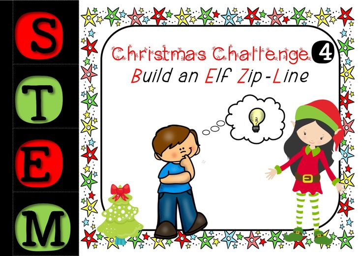 Christmas STEM Challenge - Number 4 - Build An Elf Zip Line