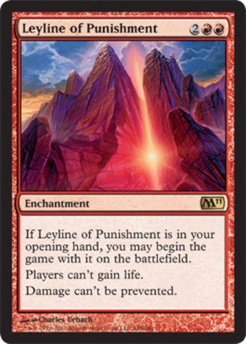 M11 Magic 2011 Leyline of Punishment red rare enchantment card mtg Magic the Gathering
