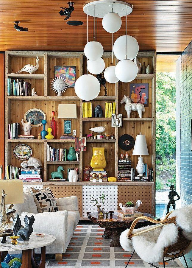 Jonathan Adler bookcase | #celebrityorganizing