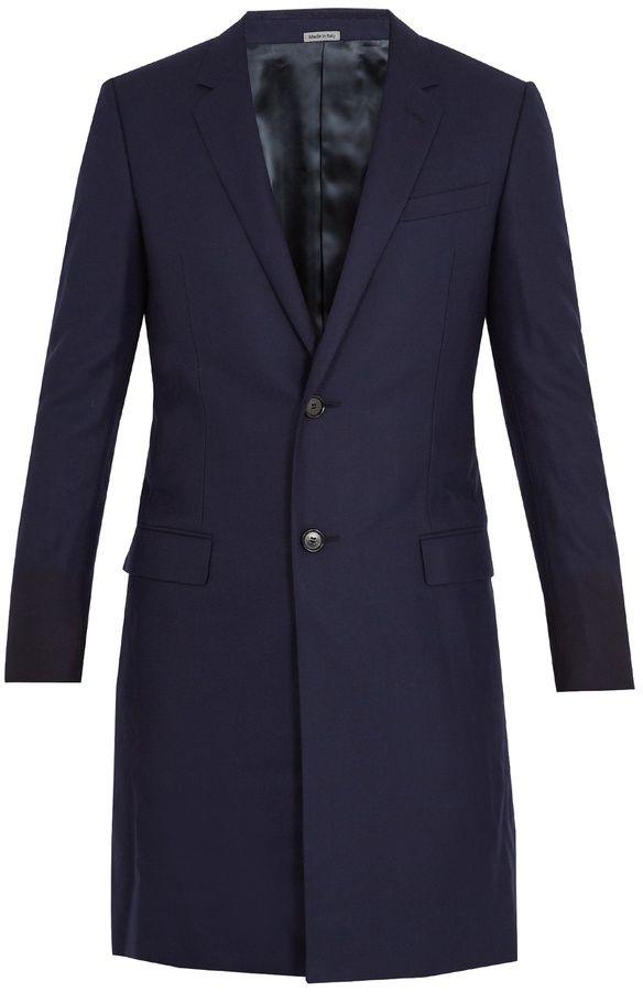 Lanvin Single-breasted wool overcoat