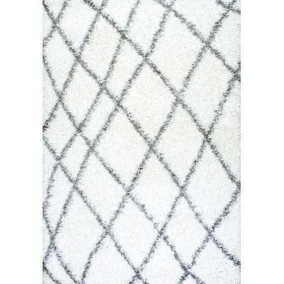 Found it at Wayfair - Selina White Shag Area Rug