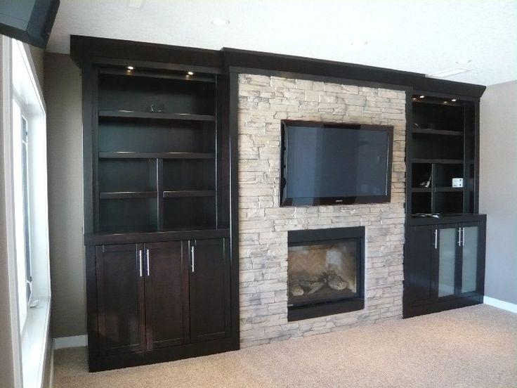 Black Built Ins For The Home Pinterest Built Ins Basements - Built in cabinets entertainment center design pictures remodel