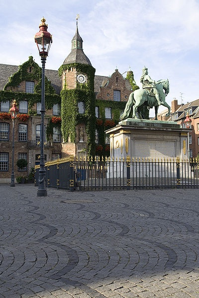 Dusseldorf, The town hall and Jan Willem,   I lived there for 2 years right around the corner