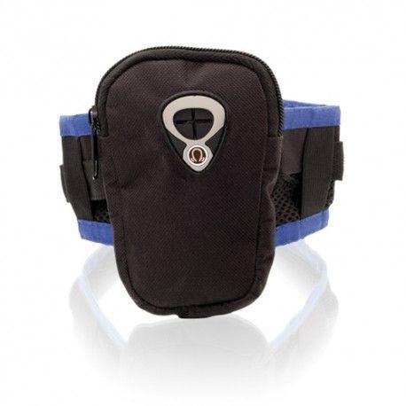 Funda brazalete para tu móvil de poliéster. Económica y personalizable.
