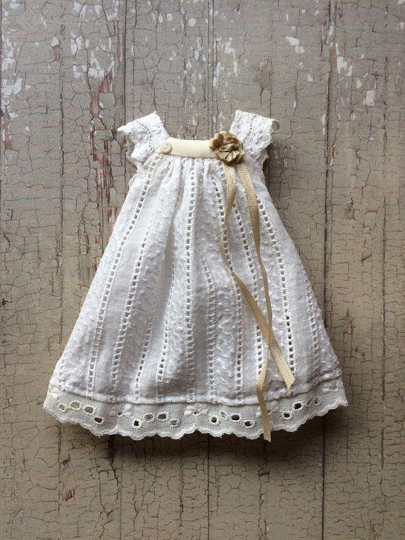 Vintage White Joni Dress  MTO by moshimoshistudio on Etsy