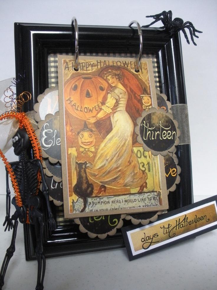 My Vintage Halloween Countdown Calendar
