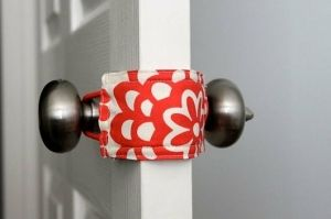 For ALL Moms: Door Jammer - allows you to open and close baby's door without making a sound. Keeps little ones from shutting themselves in the room. (This would be a great gift for new moms.) Add to scrap fabric ideas! by echkbet