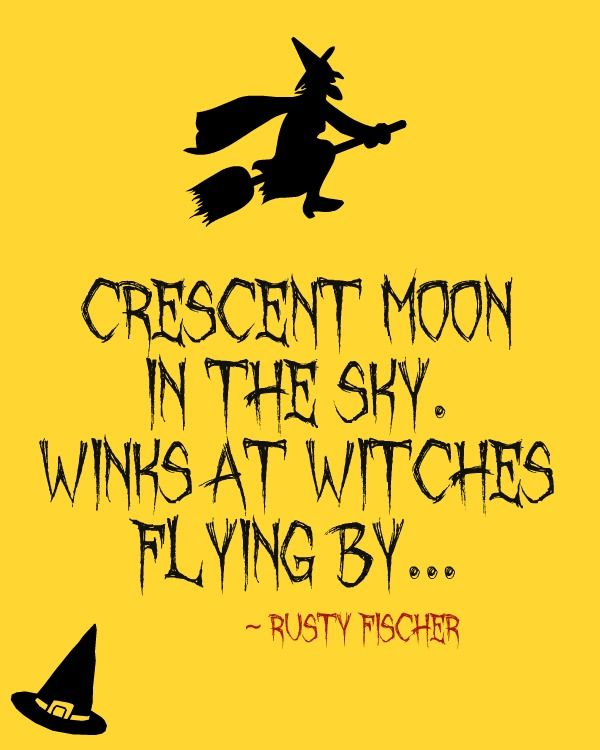 Decorating Ideas > Crescent Moon A Halloween Poem  The Four Seasons  ~ 040555_Halloween Door Sayings