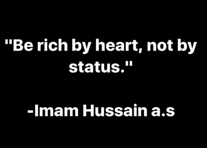 Be rich by heart, not by status ❤️