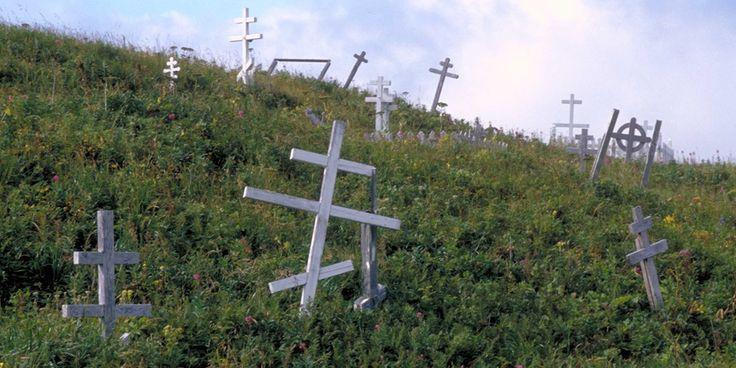 Russian Orthodox Graveyard in Dutch Harbor