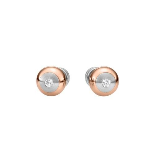 XEN | Bicolour diamond ear studs | B2C