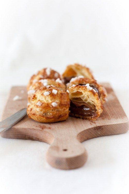 Chouquettes Crapuleuses #fourrée de crème à la pâte à tartiner#