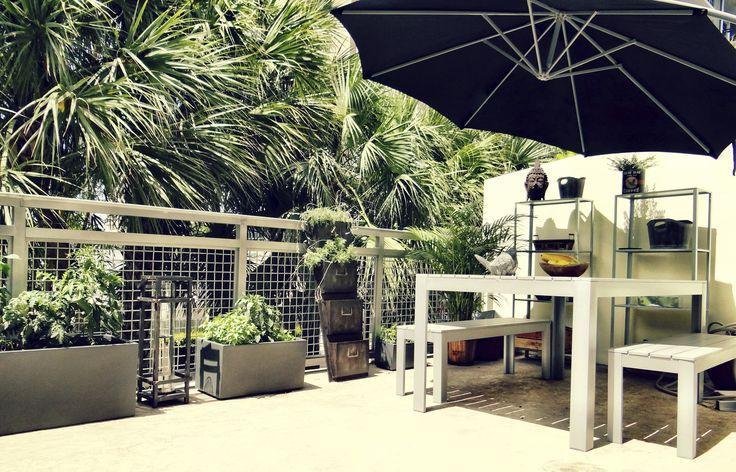 Herb garden balcony