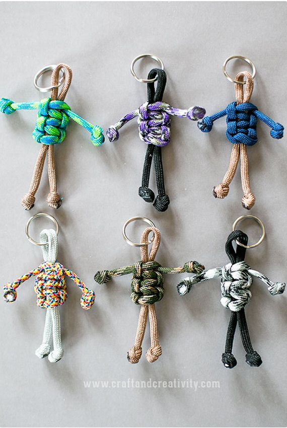 DIY. Very easy. Puppet key chain. Llavero de monigote