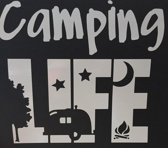 Camping life vinyl decal perfect for rv camper or car by lostgifts