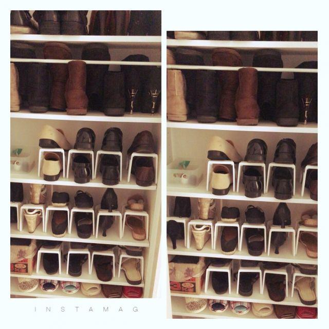 chamo6115さんの、玄関/入り口,ダイソー,靴箱,収納,100均,つっぱり棒,シンプル,玄関収納,スリッパ収納,プラケース,必要最低限,ブーツ収納,整理整頓,靴箱収納,のお部屋写真