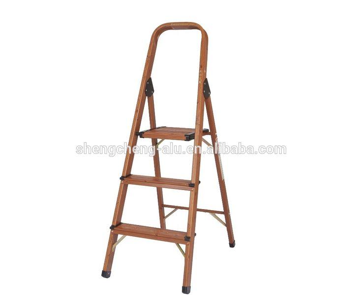 Wooden color Aluminium Ladder