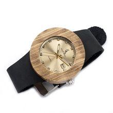 Luxury BOBO BIRD Complete Calendar Watch Women Zebra Wood Wristwatch Genuine Leather Band Wooden Watches relogio feminino C-B30(China (Mainland))