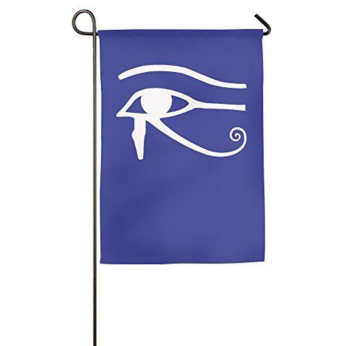 Egyptian Logo Eye Of Horus Halloween Garden Flag * Want additional info? Click on the image.