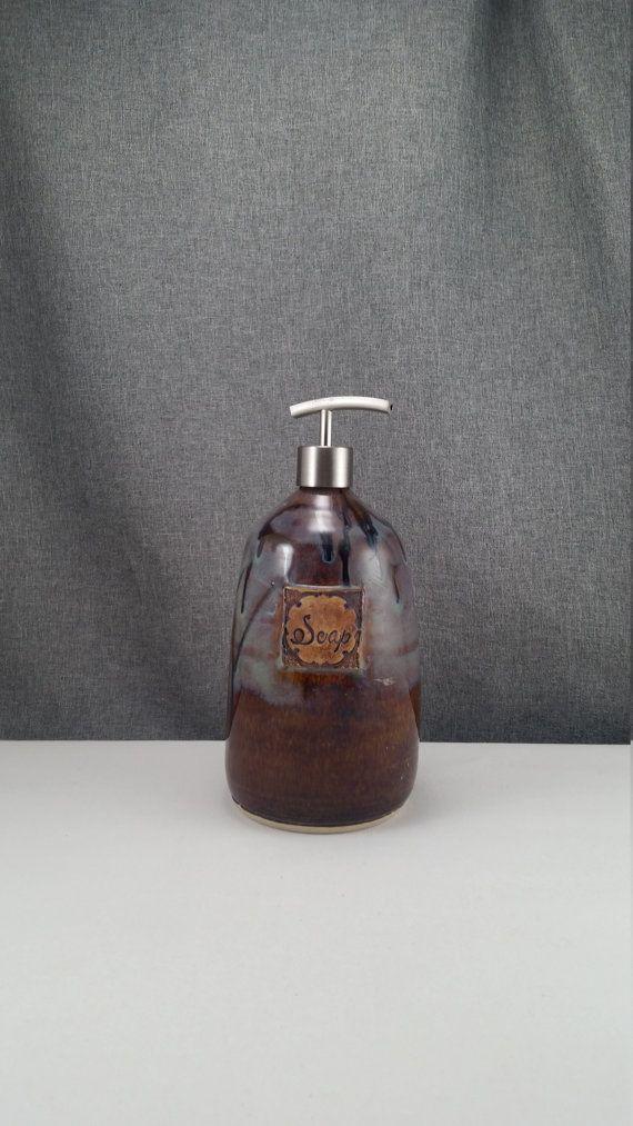 IN STOCK XL Ceramic Soap Dispenser Handmade by 3PointsArtwork