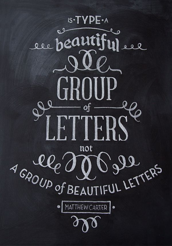 Chalk Typography by Sarah Baker