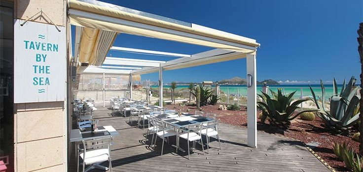 Tavern on the beach in Alcudia Pins Hotel