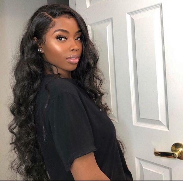 10a Brazilian Virgin Loose Deep Wavy Human Hair Lace Front Wigs Natural Black Original Queen In 2020 100 Human Hair Wigs Wig Hairstyles Baddie Hairstyles