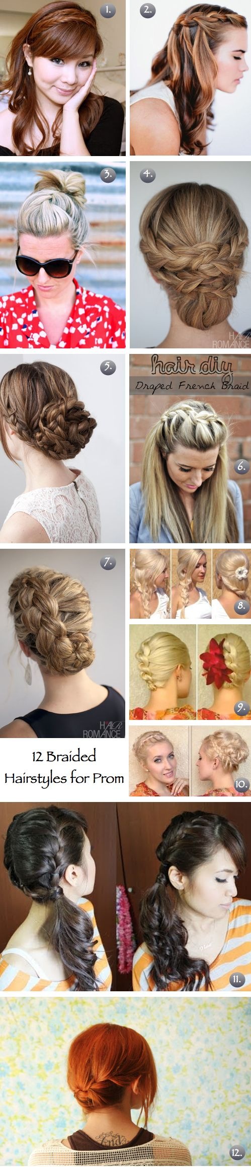 12 Braided Prom Or Wedding Hairstyles