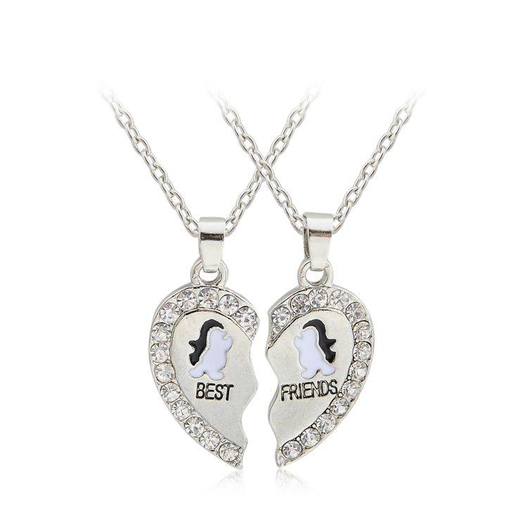 Купить товар2 шт. новинка BFF ожерелье дружба лучшие друзья навсегда ожерелья пингвин панда дельфин якорь оптовая продажа в категории Подвескина AliExpress.                       Материал: сплав Размер: около 45 см + 5 см         Цвет: серебристый                  Вес: 1