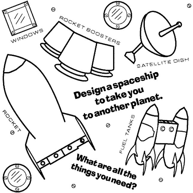 blast off into reading coloring pages | Design a rocket to blast you off into outer space! Use ...