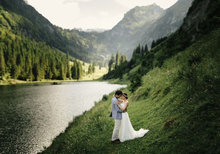 Beautiful wedding in the mountains of Switzerland