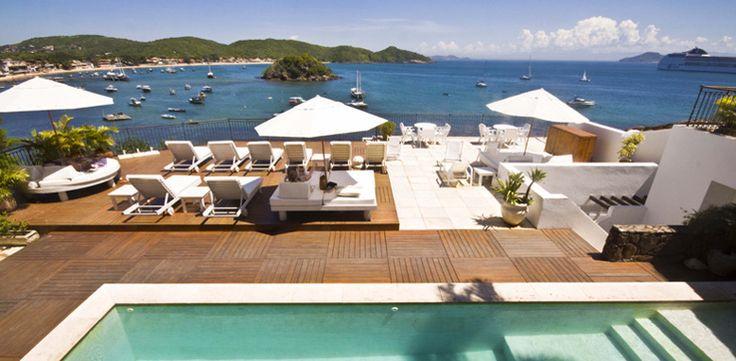 Swimming pool in Rio de Janeiro overlooking the famous Orla Bardot at Casas Brancas #swimmingpool #Brazil #Rio #hotel #seaside #amazingviews